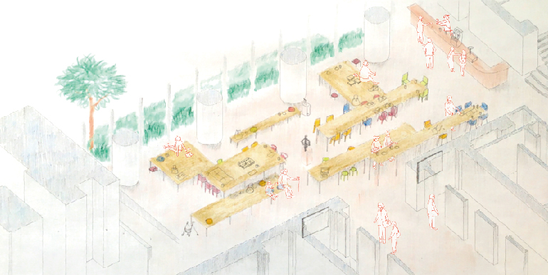 神戸市役所市民ロビー改装設計プロポーザル(次点)-1